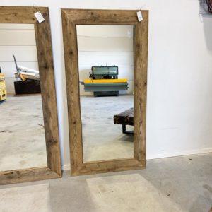 houten spiegel